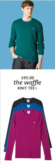 the waffle KNIT TEE