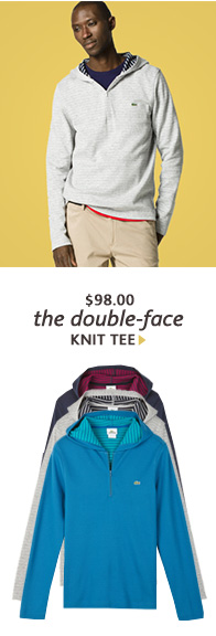 the double–face KNIT TEE