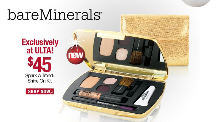 bareMinerals Spark a Trend: Shine On Kit - $45. Shop Now.