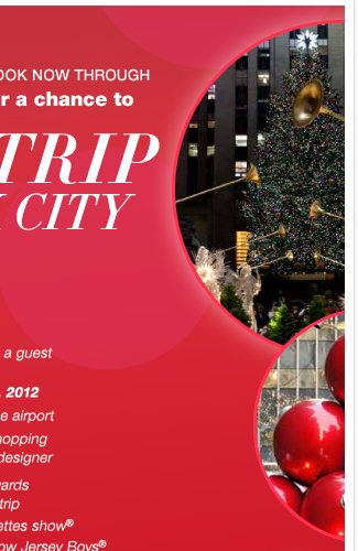 LIKE Us on Facebook for your chance to Win a trip to New York City for the Holidays! Enter Now.