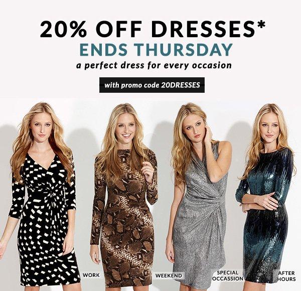 Shop 20% OFF Dresses