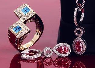 Pink & Blue Diamonds
