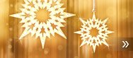 Crystal Pixel Star Ornament (Set of 3)
