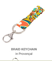 Braid Keychain in Provencal