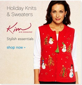 Holiday Knits & Sweaters. Shop now.