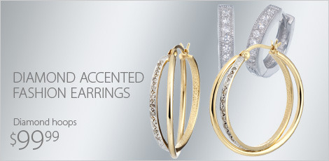 Diamond Accented Fashion Earrings