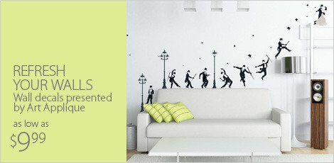 Refresh your walls: Wall Decals presented by Art Applique