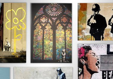 Shop New Banksy-Style Canvas Prints