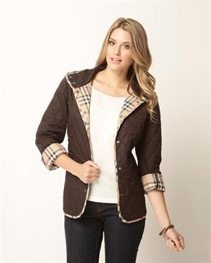 Burberry Padded Snap-Button Coat $229