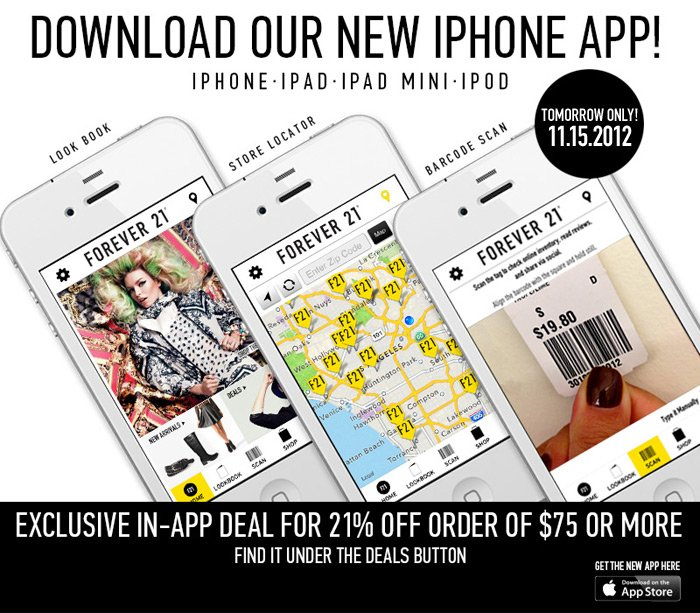 Today Only - Download Our New iPhone App and Get 21% Off! - Shop Now