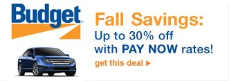 Budget® Fall Savings: Up to 30% off with PAY NOW rates! | get this deal