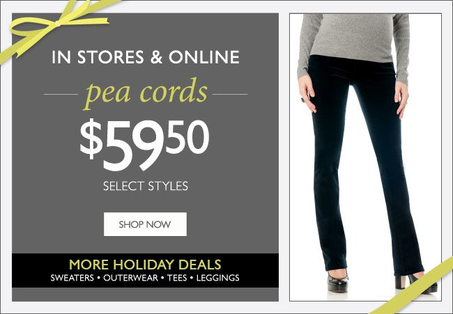 Pea Cords $59.59 - More Holiday Deals