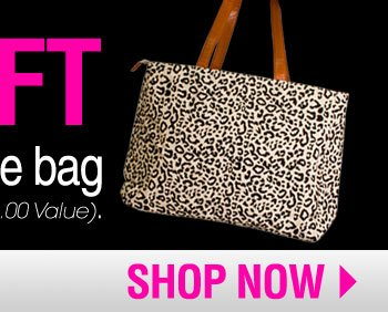 Free Gift Paris Hilton Tote Bag with purchases of $75 or more ($25.00 Value).