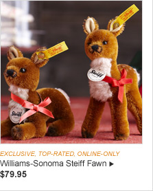 EXCLUSIVE, TOP-RATED & ONLINE ONLY - Williams-Sonoma Steiff Fawn - $79.95