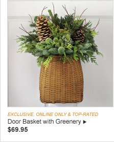 EXCLUSIVE, ONLINE ONLY & TOP-RATED - Door Basket with Greenery - $69.95