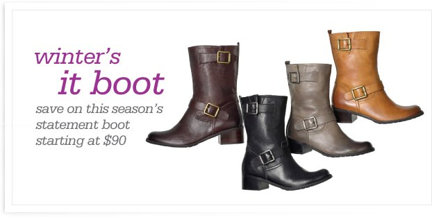 winter's it boot – save on this season's statement boot starting at $90