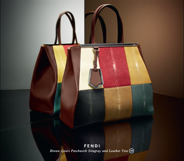 XO Exclusively Ours: A colorful take on Fendi's must-have 2Jours tote.