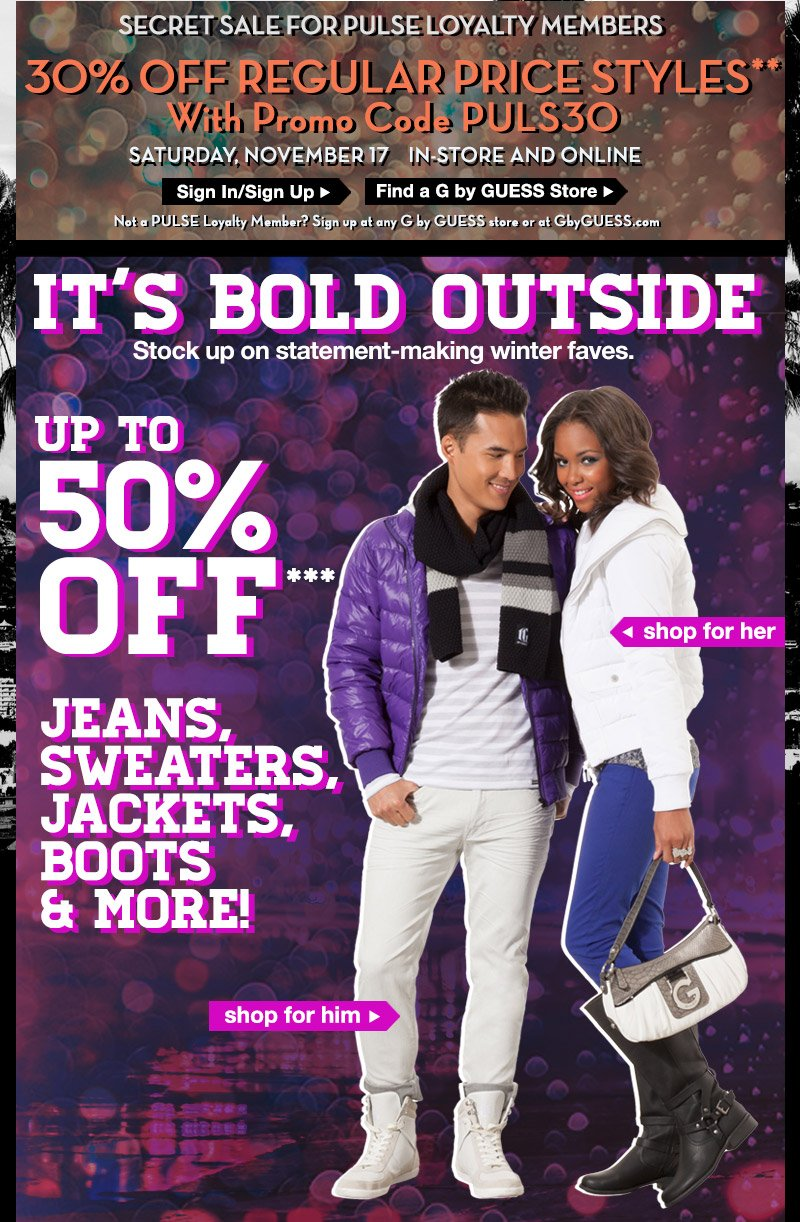 For a limited-time only, enjoy up to 50% OFF jeans, sweaters, boots and MORE!***