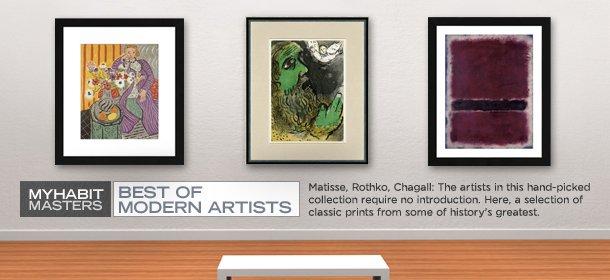 MYHABIT MASTERS: BEST OF MODERN ARTISTS, Event Ends November 17, 9:00 AM PT >