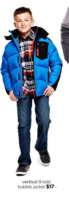 vertical 9 kids' bubble jacket $17›