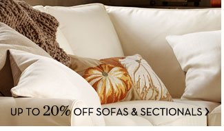 UP TO 20% OFF SOFAS & SECTIONALS