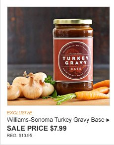 EXCLUSIVE -- Williams-Sonoma Turkey Gravy Base -- SALE PRICE $7.99 -- REG. $10.95