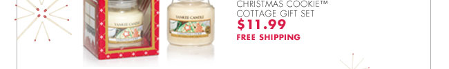 CHRISTMAS COOKIE™ COTTAGE GIFT SET $11.99 FREE SHIPPING
