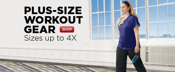 SHOP plus-size workout wear