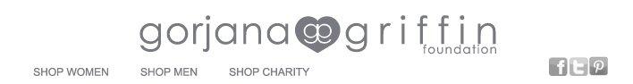 gorjana & griffin Charity | Header