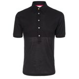 Paul Smith Polo Shirts - Dark Navy Split Cotton Polo Shirt