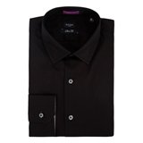 Paul Smith Shirt - Black Contrast Cuff Shirt