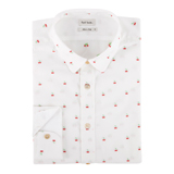 Paul Smith Shirts - White Cherry Jacquard Shirt