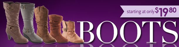 Boots starting at only $19.80