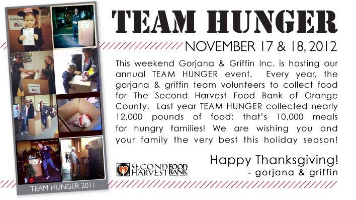 Team Hunger   November 17 & 18, 2012