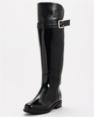 Henry Ferrera Rain Boots with Faux Leather Knee Accent $35