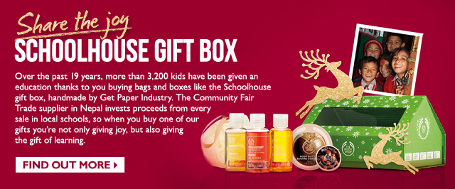 Share the joy Schoolhouse gift box