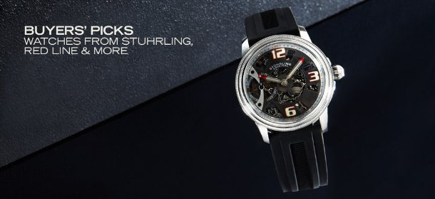 BUYERS' PICKS: WATCHES FROM STUHRLING, RED LINE & MORE, Event Ends November 19, 9:00 AM PT >