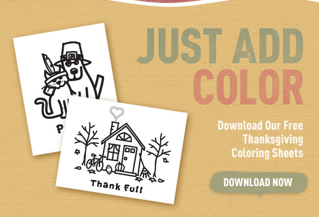 Download Our Free Thanksgiving Coloring Sheets