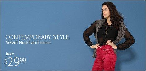 Contemporary Style Velvet Heart & more Designer Fashion
