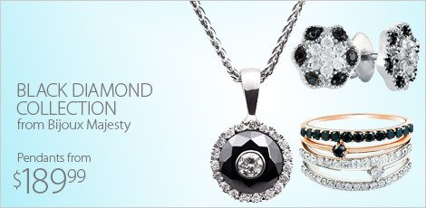 Black Diamond Collection from Bijoux Majesty