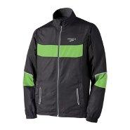 NightLife Essential Run Jacket for men in Black and Brite Green