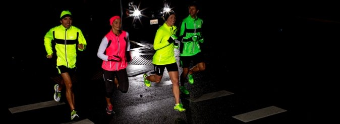 Be Seen with Brooks high-visibility NightLife gear