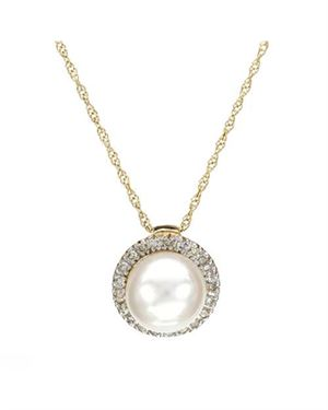 Ladies Freshwater Pearl Necklace Designed In 10K Yellow Gold $129