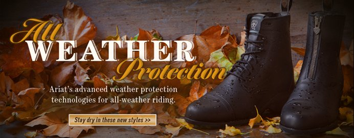 All Weather Protection. Stay Dry in these New Styles