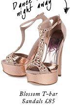 Blossom T-bar Sandals