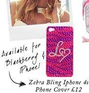 Zebra Bling Lipsy Logo Iphone 4s Phone Cover