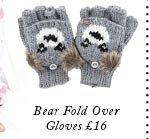 Bear Fold Over Gloves