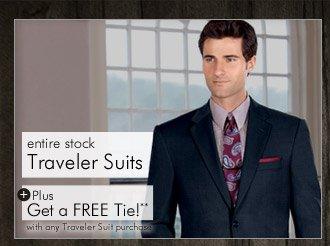 Traveler Suits PLUS Get a FREE Tie**