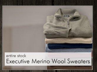 Executive Merino Wool Sweaters