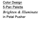 Color Design 5-Pan Palette | Brighten & Illuminate in Petal Pusher